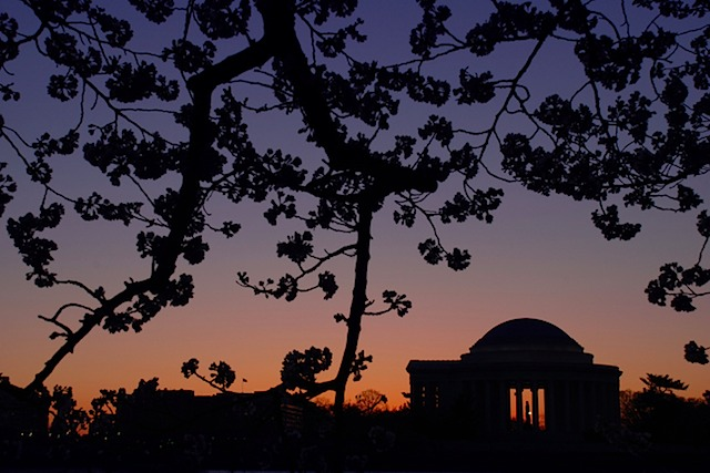 Jefferson Memorial Sunrise Silhouette, Washington DC